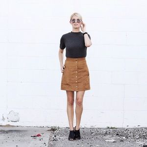 a58c57924e H&M Skirts | Hm Faux Suede Skirt | Poshmark